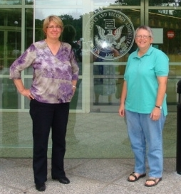 Ellen Ganley and Karen Perdue at the National Archives