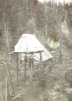 Clara's Cache and Cabin, Alaska, 1917
