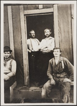 Gus Berglund, seated on the right